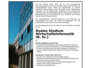 Dualer Student Wirtschaftsinformatik B Sc