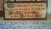 Sehr altes Holzschild mit Spruch