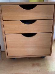 Schreibtischcontainer aus Massivholz