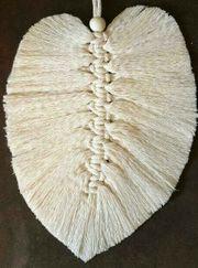 Makramee Feder Wanddekoration macrame feather