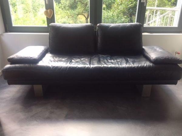 Design Klassiker Rolf Benz 6600 Leder Sofa Schwarz In Bad Soden