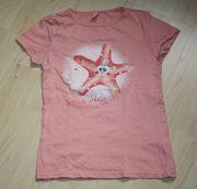 Mädchen Kurzarm T-Shirt Stern Star