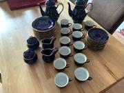 42 tlg Kaffeeservice Kobaltblau Fena