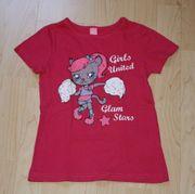 Mädchen Kurzarm T-Shirt Katze Kinder