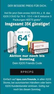 15 Gutscheincode RPRCPG IQOS Heets