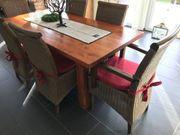 6 Esszimmer Stühle Rattan