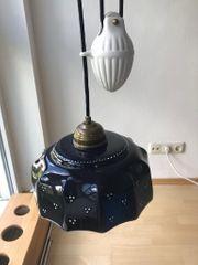 Zugpendelleuchte mit Gegengewicht Deckenlampe Keramik