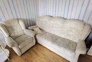 Couch mit Schlaffkt 2 Sessel