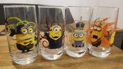 4 Minion Gläser