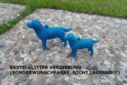 X-MAS Labrador Christbaum Schmuck Glitzer