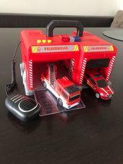 Feuerwehr Station mit Licht und