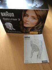 Haartrockner mit Schwebehaube Braun