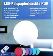 LED Reispapierleuchte neu