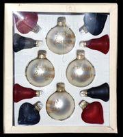 12 Christbaumkugeln Weihnachtsbaumkugeln Glas Herzen