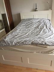 Bett Ikea Brimmnes inkl Kopfteil
