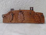 Schlüsselbrett mit 5 Haken Hartholz