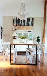 Tisch Esstisch Massivholztisch Industriedesign