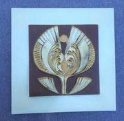 Keramik-Bild Blüte von Künstler REA