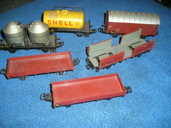 Märklin H0 6 verschiedene Güterwagen