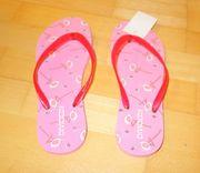 NEU rosa Flip-flops mit Flamingos