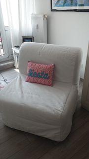 IKEA LYCKSELE Schlafsessel weiß zu