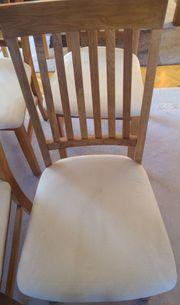 4 Esszimmerstühle Holz mit Polster
