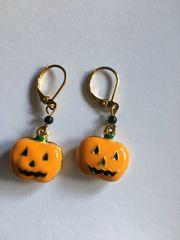 Halloween Ohrringe vergoldet mit Brisur