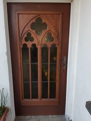 Holztür aus massivem Eichenholz Kirchentür