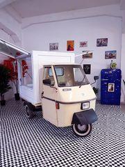Piaggio Ape 50 Verkaufsstand