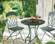 Outdoor-Tisch Vintage Rund Vintage-Look Impressionen