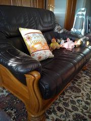 Couchgarnitur 2 teilig echtes Leder