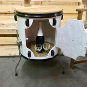 Upcycling Designer Barschrank aus Schlagzeug
