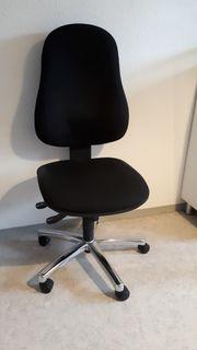 Schwarzer ergonomischer Bürostuhl mit höhenverstellbare