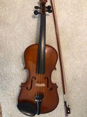 Geige Geige mit Geigenkasten
