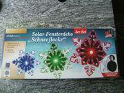 Solarfensterdeko Schneeflocke für Weihnachten