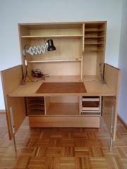 Seketär - Schreibtisch-Schrank - Retro