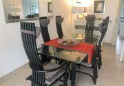Design Esstisch mit Stühlen