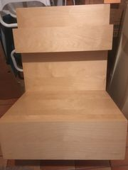 Birke-Nachttisch IKEA-Malm