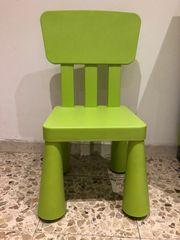 Mammut Kinderstuhl grün von IKEA