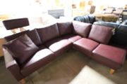 Sofa Couch in L-Form rot Leder