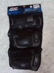 Hand-Knie-Ellenbogenschützer-Set von Streetfighter - unbenutzt