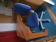 Schreibtisch Vollholz Drehstuhl Bürostuhl Eckschreibtisch