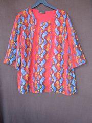 Gr 48 Tunika-Bluse mit Muster
