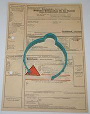 Beleg Deutsches Reich - Nachnahme-Postanweisung für