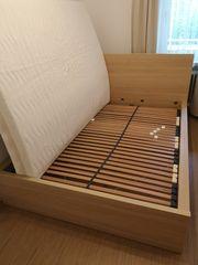 IKEA Malm Bett Eiche lasiert