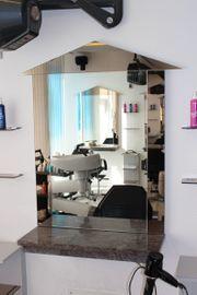 Friseurplatz Friseureinrichtung Kosmetik Spiegel Granit