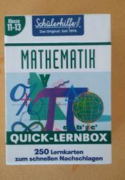 Mathe Lernbox und Lernkarten