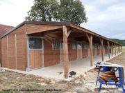 Außenbox Pferdestall Pferdebox Pferdeunterstand Weidehütte