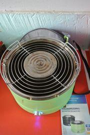 Holzkohlegrill mit elektr Belüftung