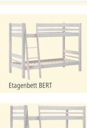Möbelum Etagenbett Bert Massivholz weiß